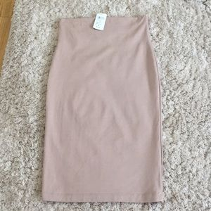 Windsor taupe pencil skirt